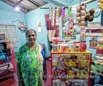 Lalith Adikari - wonderful smiley lady with a shop in her living room...