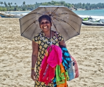 Ranji Ranjana - lovely woman selling sarongs & scarves on Uppuveli beach