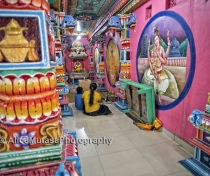 A quiet moment in the mad psychedelic interior of the Kali Kovil Temple, Trincomali