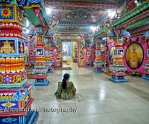 Quiet prayers in the extraordinary psychedelic interior of the Kali Kovil Temple, Trincomalee