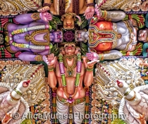 The Amazing Psychedelic ceiling of the Kali Kovil Temple in Trincomali