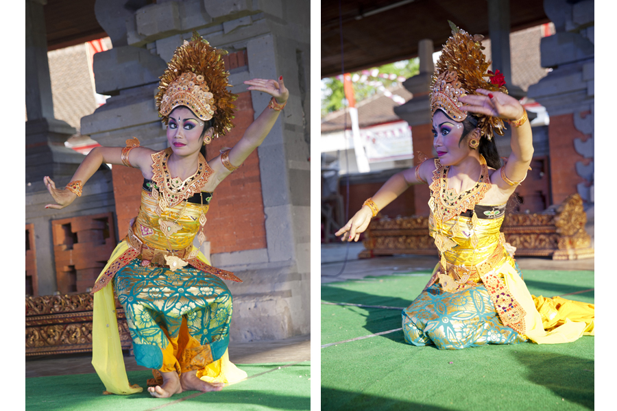 Hermalini: student of the 'Yap Foundation' project, performing at the Buleleng Festival, Singaraja