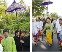 Eddie & Neila at their marriage procession; Kukuran village, Lombok
