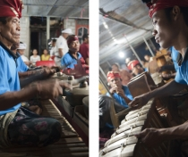 Gamelan orchestra from Pujarakan village: family shrine ceremony - Sumerkima village