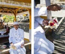 The priest at Melanting temple, Bali