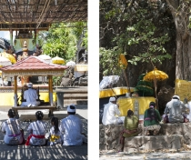 Family prayers at Melanting temple, Bali