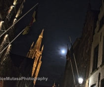 Full moon & Church of Our Lady
