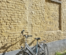 Wall & bicycle