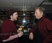 Jamie MacColl & Billy Bragg at Kirsty MacColl biography book launch