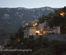 View of Brantes village at night