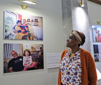 Tessa at the 'Youth Justice in Focus' Exhibition preview