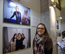 Katie at the 'Youth Justice in Focus' Exhibition preview