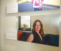 Harriet's photo in the exhibition