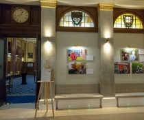 The exhibition in the Law Society foyer