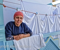 Hakima with the washing at Ryad Watier