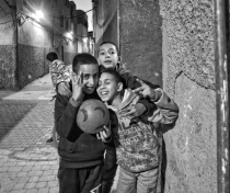 Ahmed and friends; Marrakech medina