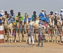 Japanese tourists photographing the nomads - they all had at least 2 cameras & wore gloves & surgical face masks....