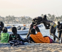 'La Lutte' - traditional wrestling on Plage N'Gor, Dakar
