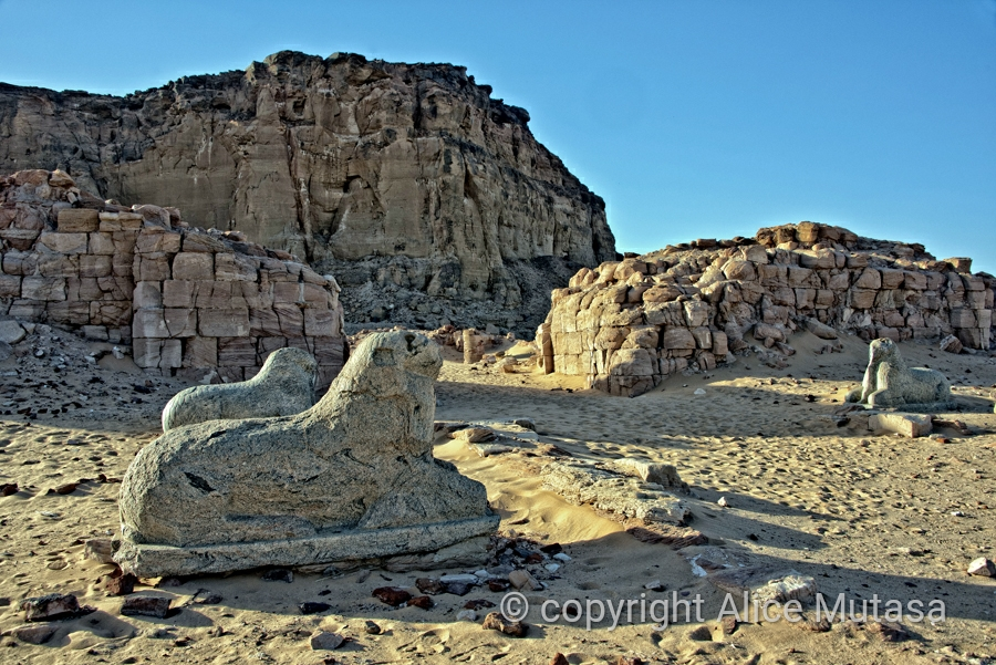 The Avenue of Sphinxes, Temple of Amun