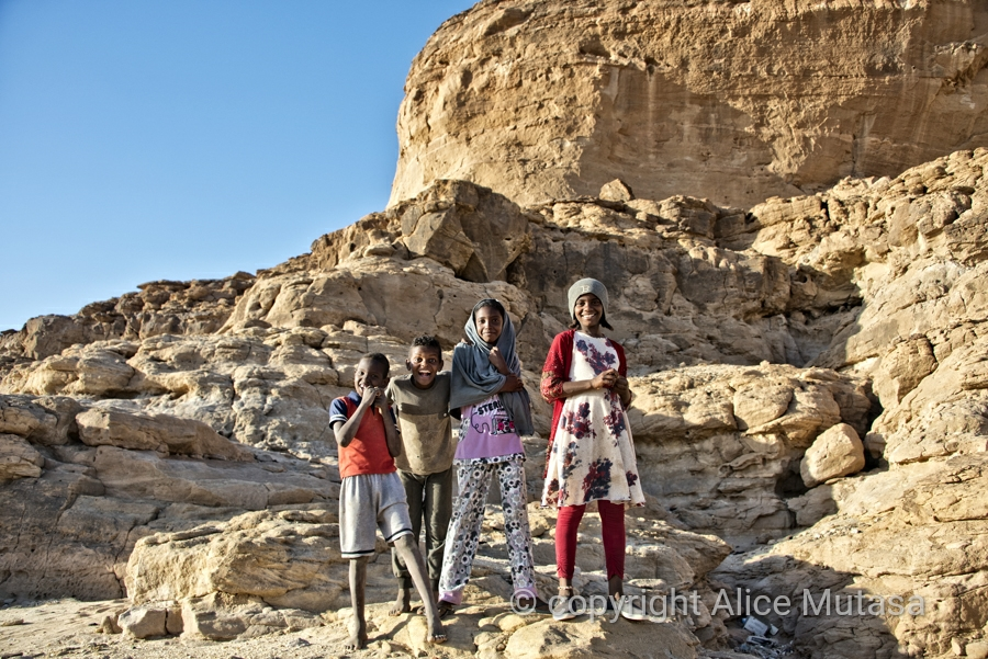 Kids we met at Jebel Barkal