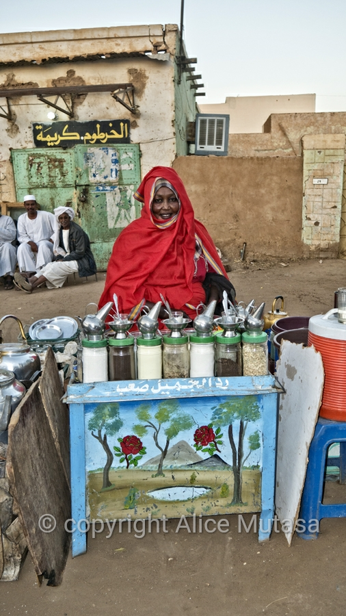 'Mama' - she had the nicest 'Shai' (tea) stand I saw in Sudan