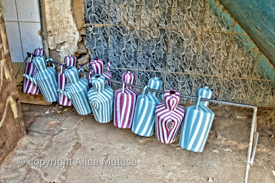 Plastic jugs for washing; Khartoum