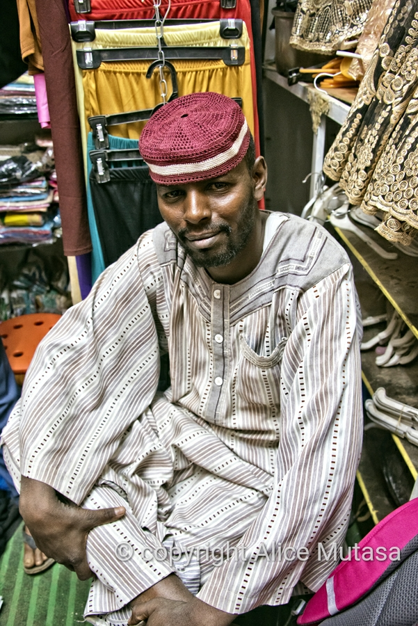 Eltaip; shop in Omdurman souq where I bought my traditional 'Thobe'