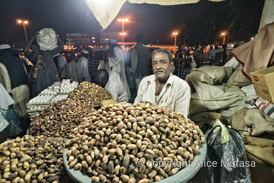Date seller (I didn't get his name); Port Sudan market