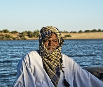 Lovely guy who took us for a sunset boat ride on the Nile (I asked his name but don't seem to have written it down..)