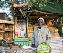 Moussa, watermelon & vegetable seller, Wad al-Bakheet; Omdurman