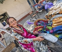 Maya - our local bread seller, Samarqand