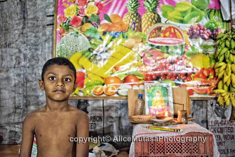 Bosith in his father's fruit & vegetable shop