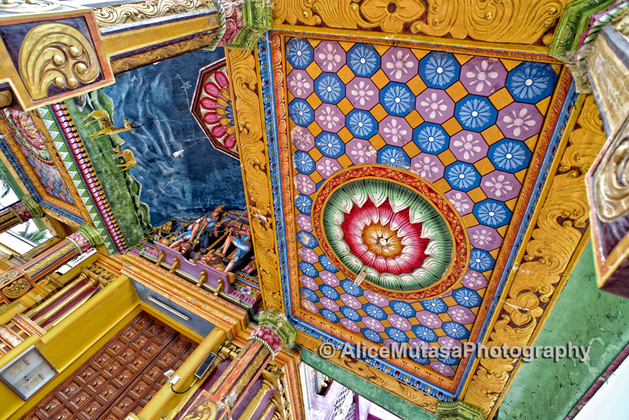 Ceiling of the Sri Muthumariamman Thevastanam temple