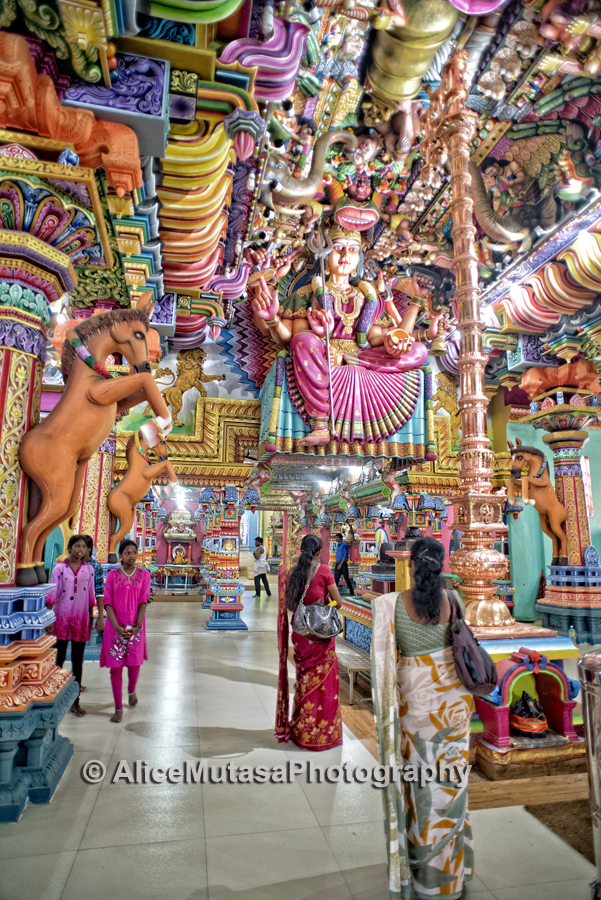 The extraordinary psychedelic interior of the Kali Kovil Temple, Trincomali
