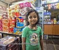 Lasini in her parents' shop - Highland Milk Bar; Dambulla