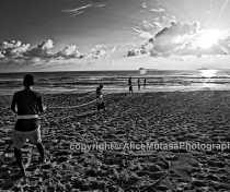 Sunrise & fishermen pulling in the nets on Nilaveli beach