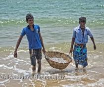 Hungu & Kanden - fishermen near Dolphin Beach, Kalpitiya