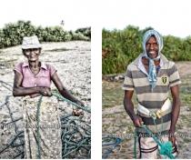 Fatima & Karim; pulling the nets in on Nilaveli beach