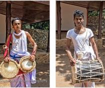 Sarat & Chataranga: temple drummers at Mihintale Rajamaha Viharaya Temple