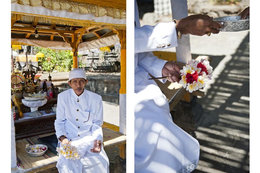 The priest at Melanting temple, Bali