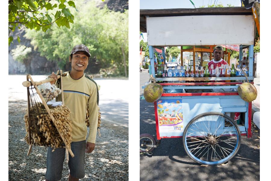 Epi - peanut seller / food stall, Singaraja
