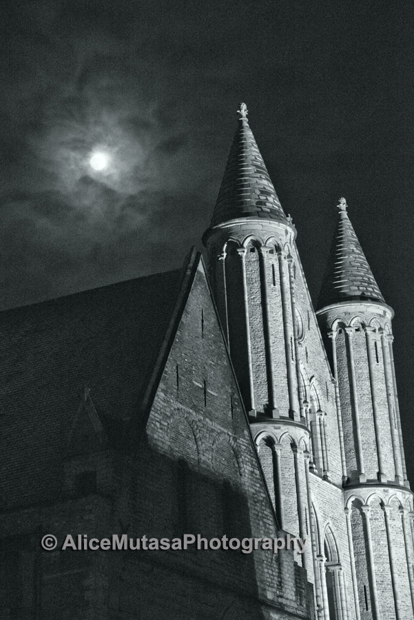 Church of Our Lady at night