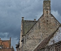 Storm clouds & brick