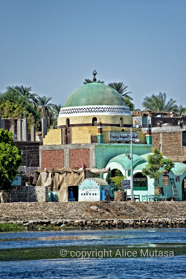 Nubian style mosque architecture