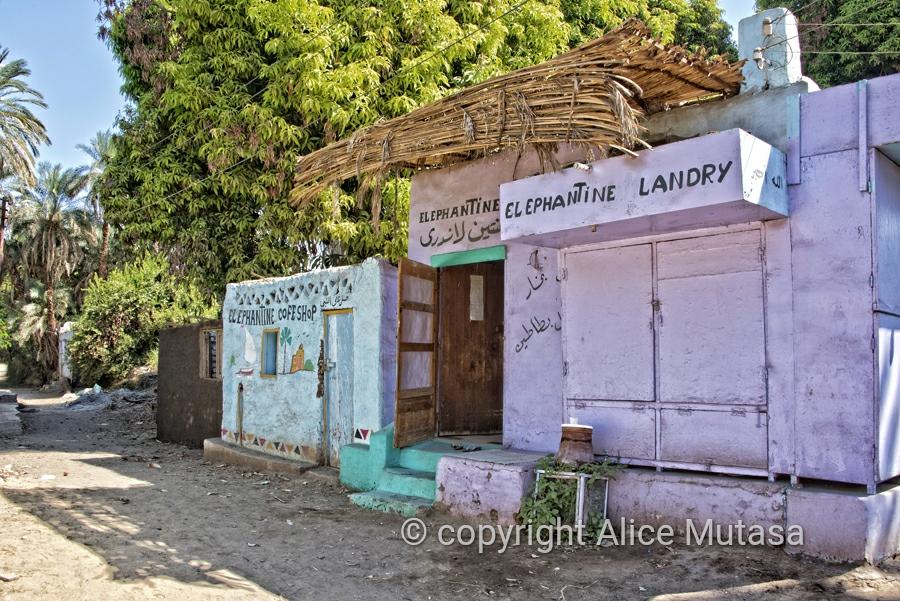 Shops on Elephantine Island