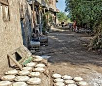 Bread waiting to go in the oven; Al Qurna village near Luxor