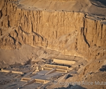 Hatshepsut Temple from the air