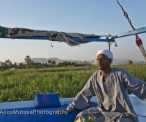 Sayed on his felucca 'Isis'