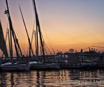 Sunset in Luxor harbour