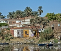 Village on the way from Luxor to Aswan